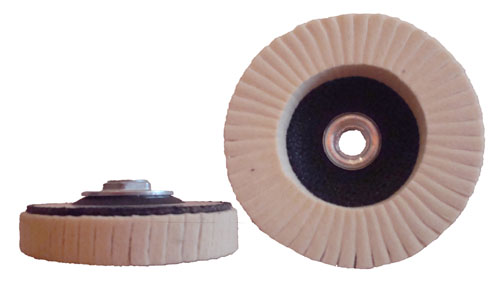 Felt Polishing Flap Discs with Fiberglass Back